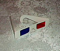 red-blue anaglyph glasses